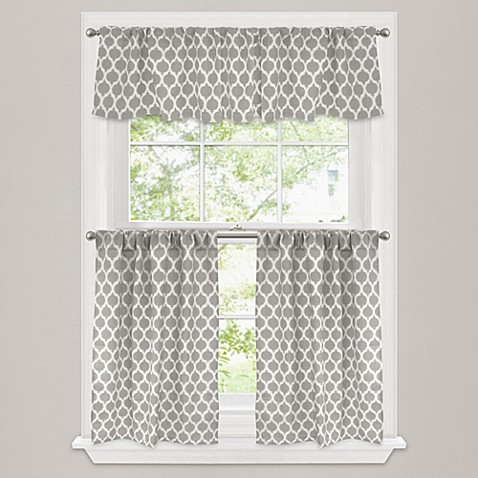 image of morocco window curtain tier pair in stone