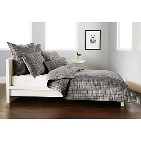 dkny city line quilt in grey