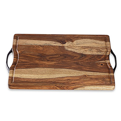 Real Simple 174 Sheesham Wood Cutting Serving Board Bed