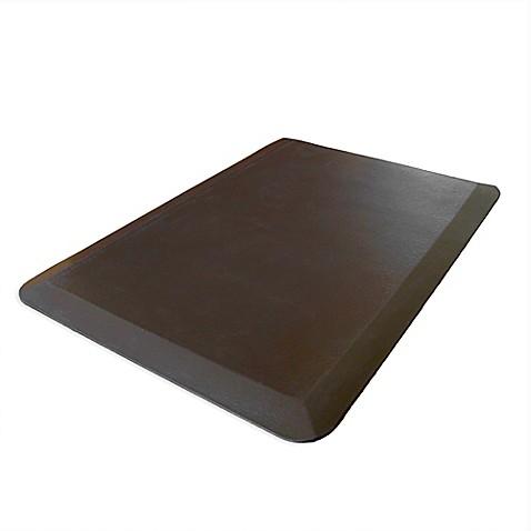spa comfort kitchen mat in brown bed bath beyond