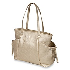 image of The Bumble Collection™ Embossed Tote Diaper Bag in Gold