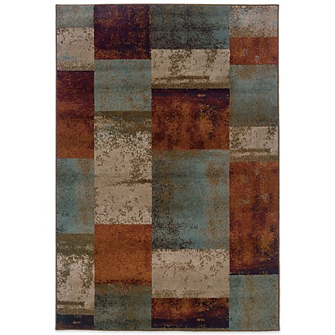 Oriental Weavers Adrienne Blocks Rug In Terracotta Bed