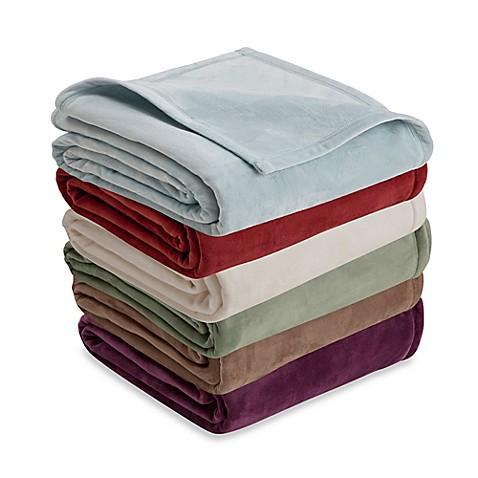 Vellux plush blanket bed bath beyond for Vellux blanket