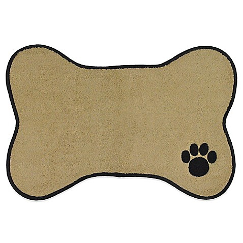 Paw Embroidered Pet Mat In Taupe Bed Bath Amp Beyond