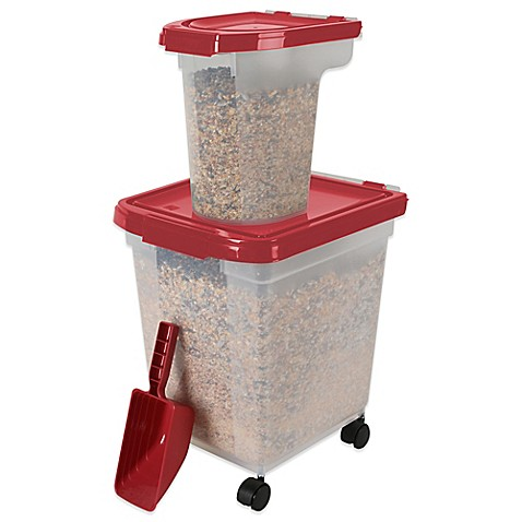 Iris 3 piece airtight bird food storage combo pack in for Bird food holder
