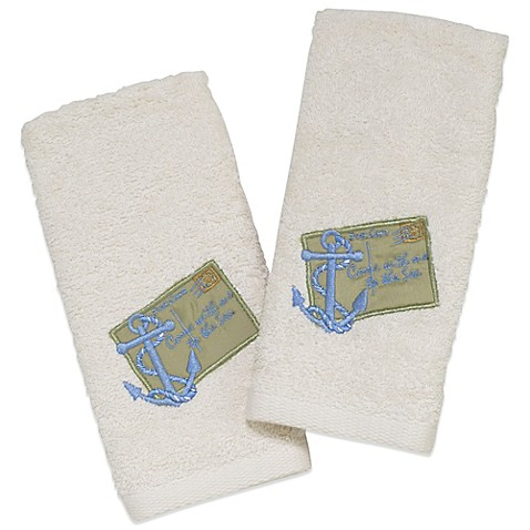 Avanti Quot Come With Me To The Sea Quot Fingertip Towel In Ivory