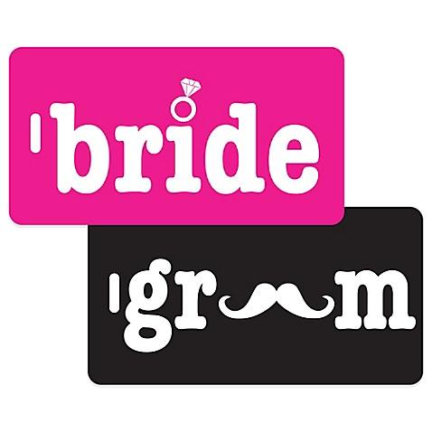Bride Amp Groom 2 Piece Bag Tag Gift Set Bed Bath Amp Beyond