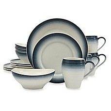 image of Mikasa® Swirl Ombre 16-Piece Dinnerware Set in Blue