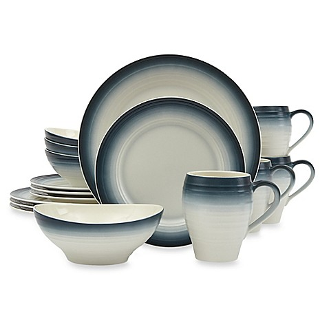 Mikasau0026reg; Swirl Ombre 16-Piece Dinnerware Set ...  sc 1 st  Bed Bath u0026 Beyond : bed bath and beyond dinnerware sets - pezcame.com