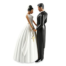 image of Ivy Lane Design Ty Wilson Hispanic Bride and Groom Cake Topper