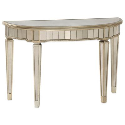 image of Bassett Mirror Company Borghese Mirrored Console Table