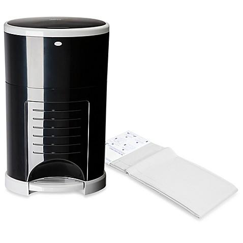 Diaper dekor kolor plus diaper disposal system in black for Dekor diaper pail refills
