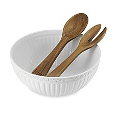 image of Mikasa® Italian Countryside Salad Bowl with Serving Utensils