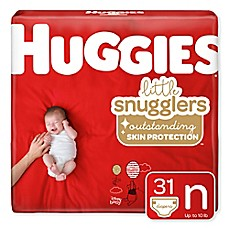 image of Huggies® Little Snugglers 32-count Newborn Jumbo Pack Diapers