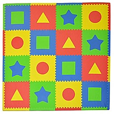 image of Tadpoles™ by Sleeping Partners First Shapes 16-Piece Playmat Set in Primary Multicolor