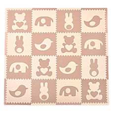 image of Tadpoles™ by Sleeping Partners Teddy & Friends 16-Piece Playmat Set in Brown/Cream