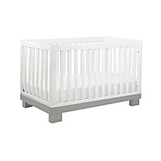image of babyletto modo 3in1 convertible crib in grey and white
