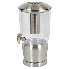 image of stainless steel 3gallon beverage dispenser - Beverage Dispenser With Stand