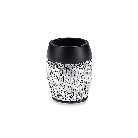 Black crackle tumbler bed bath beyond for Black crackle bathroom accessories