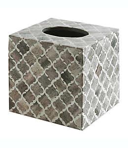 Cubierta para caja de pañuelos de MDF Kassatex Marrakesh Real Bone®, color gris