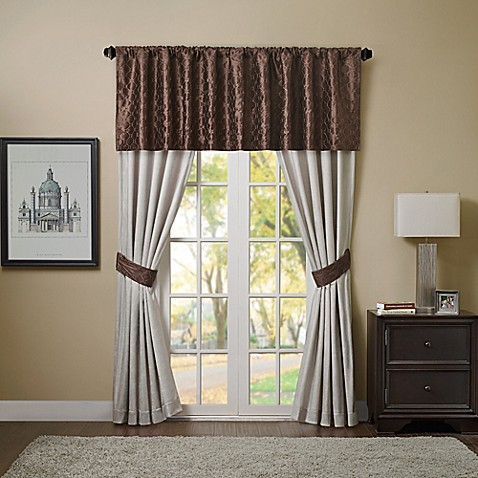 Bailey Window Curtain Panel And Valance Bed Bath Amp Beyond