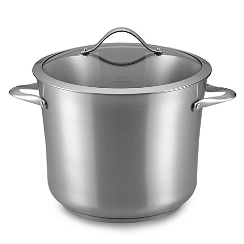 calphalon stainless steel 12quart stockpot u0026 cover bed bath u0026 beyond