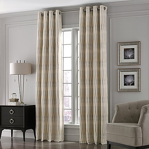Valeron Lustre Grommet Top Window Curtain Panel Bed Bath