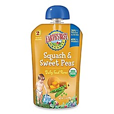 image of Earth's Best® Organic 3.5 oz. Squash & Sweet Peas Baby Food Puree
