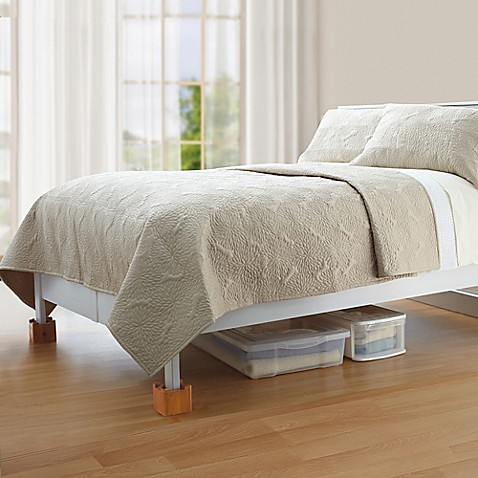 Mahogany Wooden Bed Lifts Set Of 4