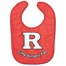 image of Little Rutgers Fan All-Pro Style Bib in Red/White