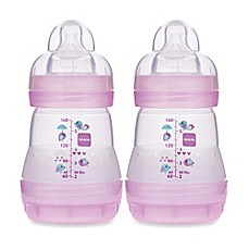 image of MAM 2-Pack 5 oz. Anti-Colic Bottle in Pink