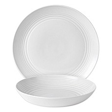 image of Gordon Ramsay by Royal Doulton® Maze 2-Piece Serving Set in White