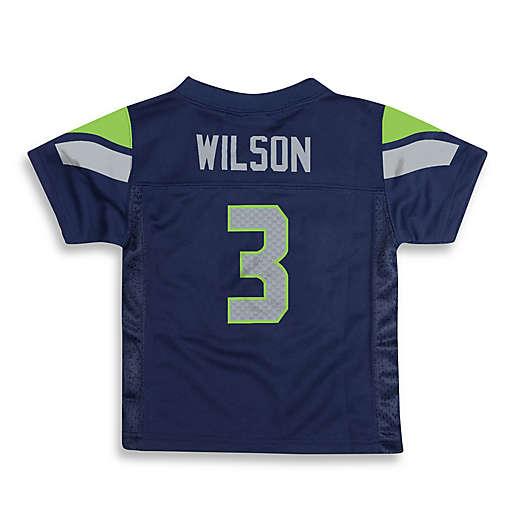 NFL Seattle Seahawks Russell Wilson Jersey in Navy Blue   Bed Bath ...