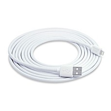image of Sharper Image® 10-Foot Lightning Pin Charge & Sync Cable