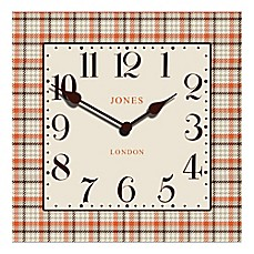 image of Jones® Clocks Tartan Square Wall Clock
