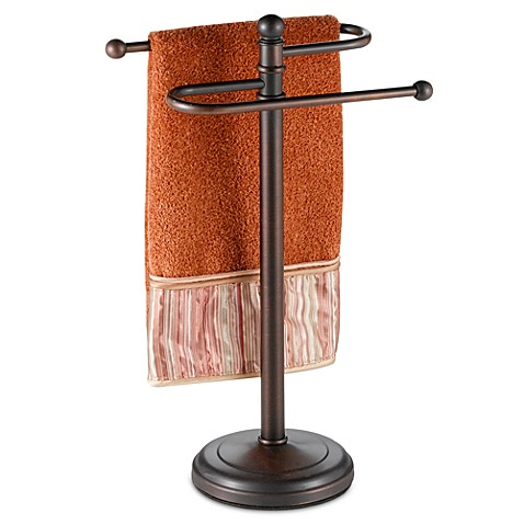 Curved Hand Towel Tree In Oil Rubbed Bronze Bed Bath Beyond