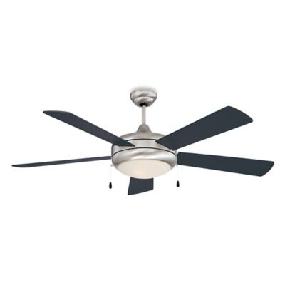 Concord Fans Saturn Ex 52 Inch Single Light Indoor Ceiling Fan In Stainless Steel