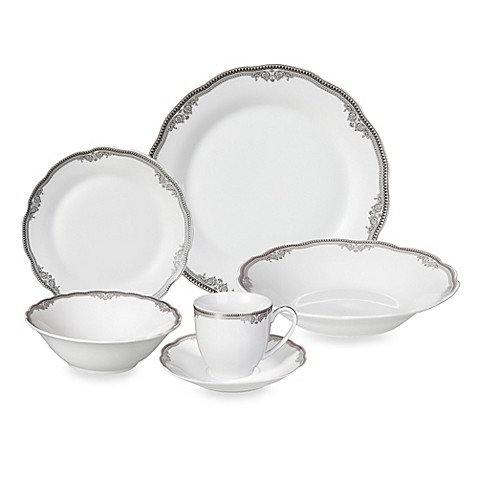 Lorren Home Trends Elizabeth 24-Piece Dinnerware Set  sc 1 st  Bed Bath \u0026 Beyond & Lorren Home Trends Elizabeth 24-Piece Dinnerware Set - Bed Bath \u0026 Beyond