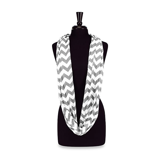 Itzy Ritzy Nursing Happens Infinity Breastfeeding Scarf In White Taupe Buybuy Baby