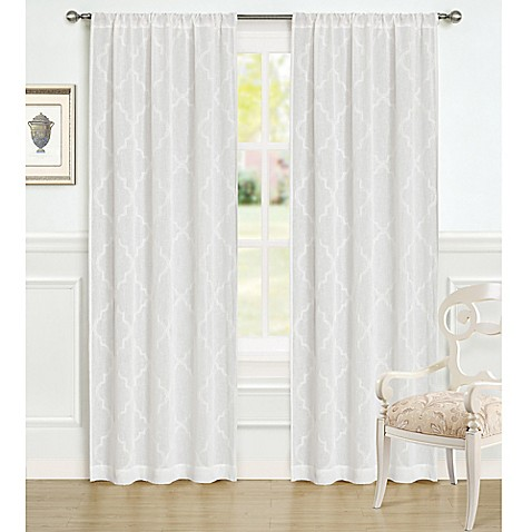Laura ashley 84 inch windsor window curtain panel pair bed bath laura ashleyreg 84 inch windsor window curtain panel pair gumiabroncs Choice Image