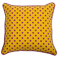 image of Rachel Kate Jealla Girl 18-Inch Square Throw Pillow in Yellow