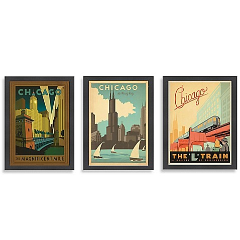 Americanflat Chicago Framed Wall Art