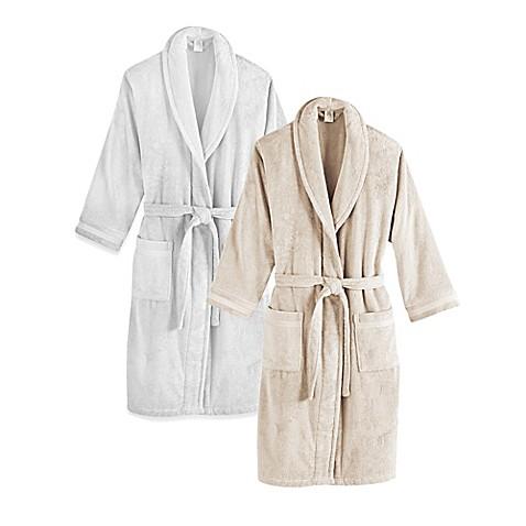 Frette at home unisex milano terry bathrobe bed bath for Frette milano
