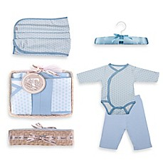 image of Tadpoles™ by Sleeping Partners Starburst Size 0-6M 5-Piece Layette Baby Gift Set in Blue