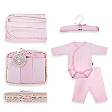 image of Tadpoles™ by Sleeping Partners Starburst Size 6-12M 5-Piece Layette Baby Gift Set in Pink