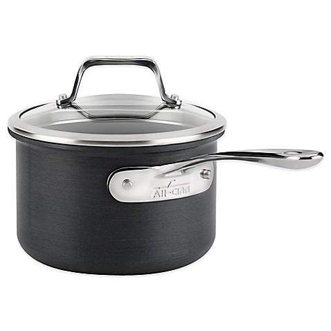 All Clad B1 Hard Anodized Nonstick 2 Quart Saucepan With