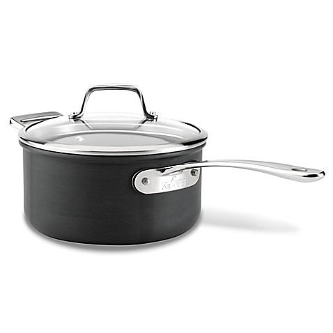 All-Clad B1 Hard Anodized Nonstick 3 qt. Saucepan with Lid