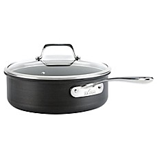 image of All-Clad B1 Hard Anodized Nonstick 4 qt. Sauté Pan with Lid