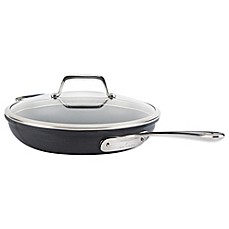 image of All-Clad B1 Hard Anodized Nonstick 12-Inch Fry Pan with Lid