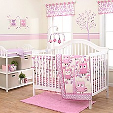image of Belle Dancing Owl Crib Bedding Collection